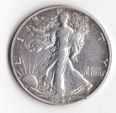 23: 1927S Walking Liberty Half Dollar