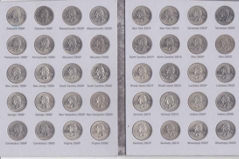 104: Washington Quarter Collection Book w/ 46 Coins
