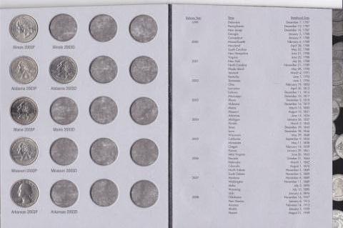 104: Washington Quarter Collection Book w/ 46 Coins - 2