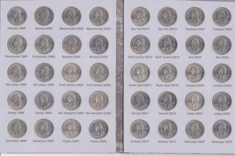105: Washington Quarter Collection Book w/ 47 Coins