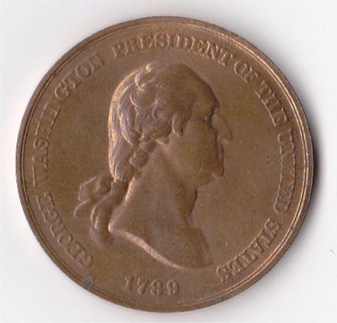 334A: George Washington 1789 Peace Medal