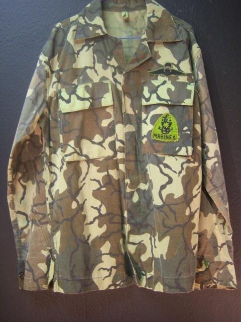 11: Green Camo Marines Shirt Large