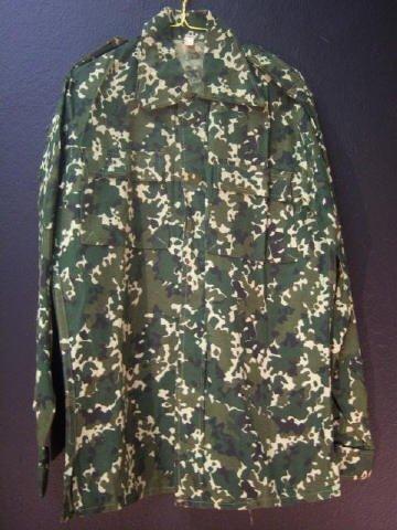 12: Green Camo Shirt Large