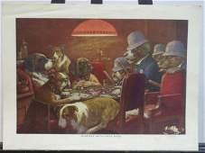 598 Dogs Playing Poker Prints  Set of 5