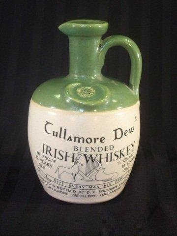 966: Vintage Stoneware Whiskey Jug Tullamore Dew
