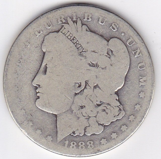 8: 1888O Silver Morgan Dollar