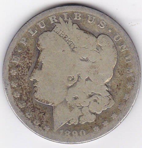 9: 1890O Silver Morgan Dollar