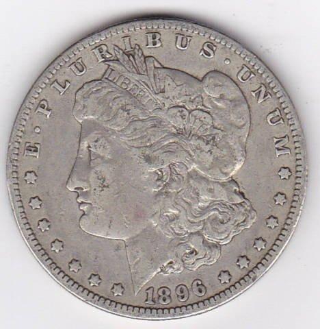 13: 1896O Silver Morgan Dollar