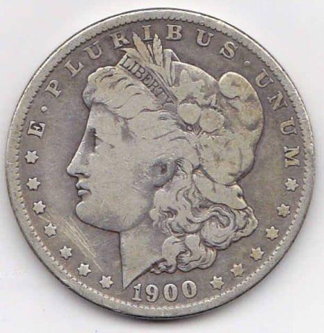 14: 1900O Silver Morgan Dollar