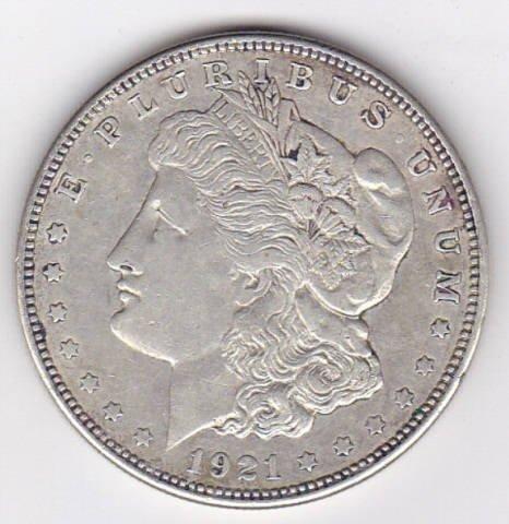 17: 1921 Silver Morgan Dollar