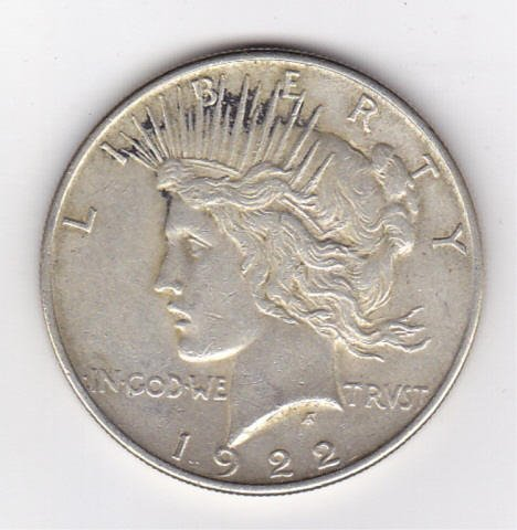 18: 1922 Silver Peace Dollar