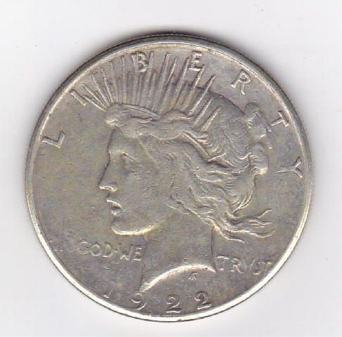 19: 1922S Silver Peace Dollar