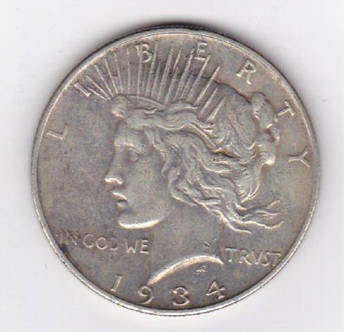 20: 1934D Silver Peace Dollar