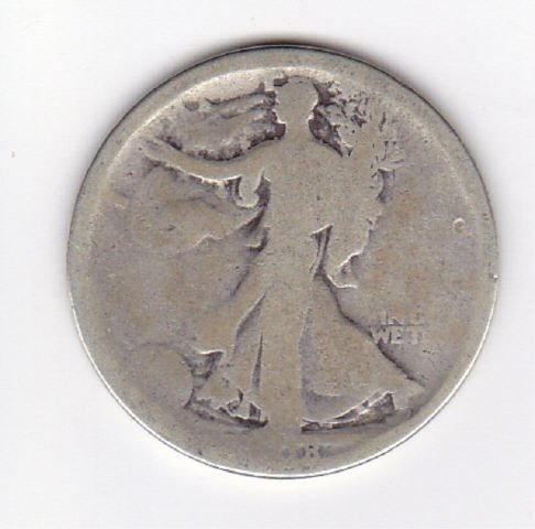 25: 1918S Silver Walking Liberty Half Dollar