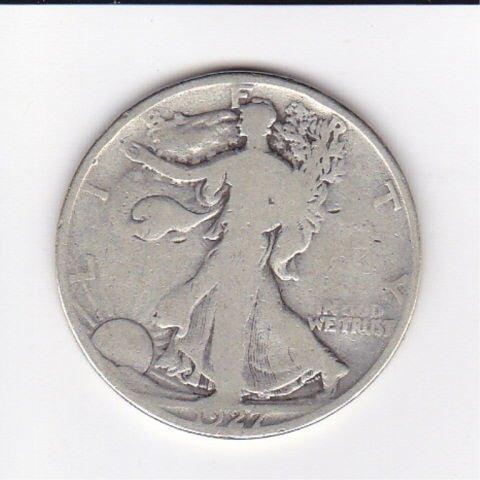 26: 1927S Silver Walking Liberty Half Dollar