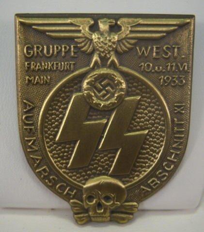192: German WWII 1933 SS Frankfurt Rally Badge