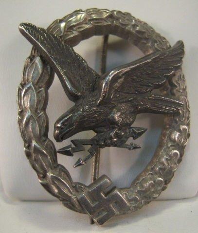 221: Nazi Luftwaffe Radio Operator Aerial Gunner Badge