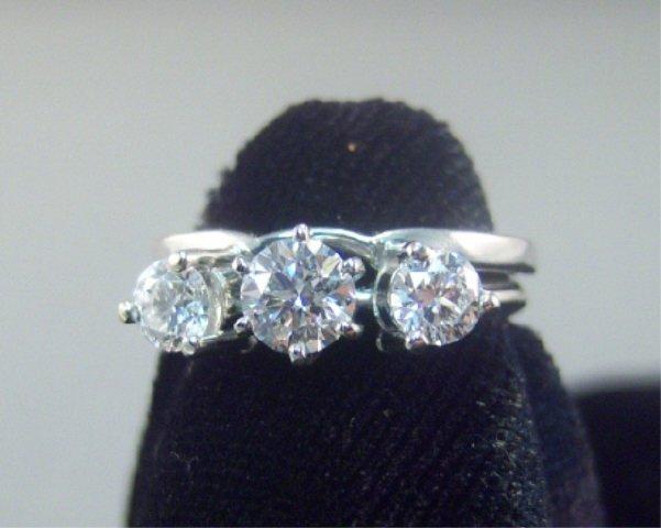 259: 14Kt Gold and Diamond Ladies Wedding Set