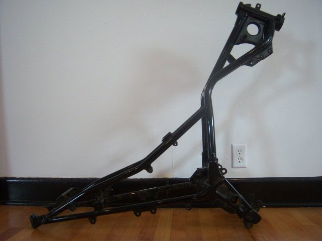 3: 2001 Black Kawasaki Motorcycle Frame