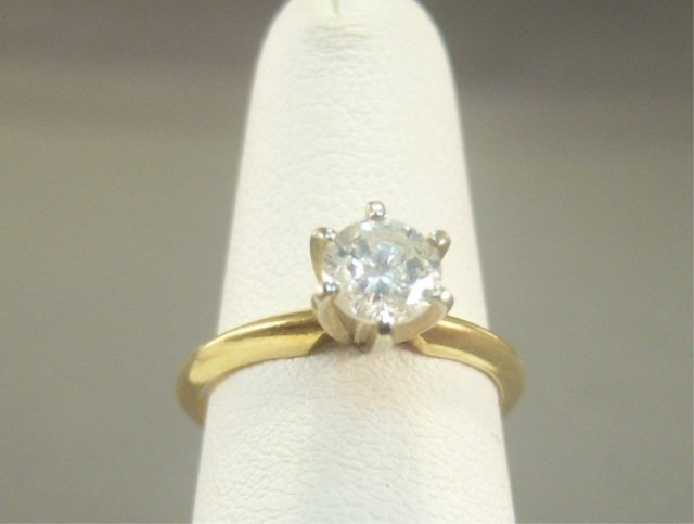 5: 14kt Gold and Diamond Ladies Solitaire Ring