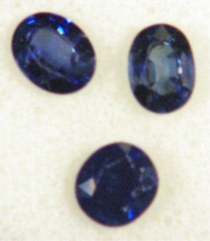 18: 3 - Blue Sapphires Total Carat Weight 3.17 Carats