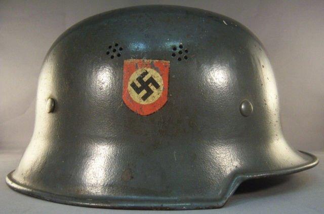 453: German WW II Police Double Decal Civic Helmet