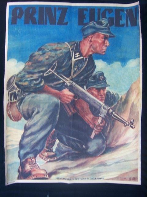 479B: German Waffen SS Prinz Eugen Division Soldier Rec