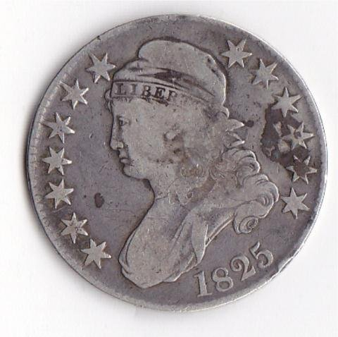 11: 1825 Capped Bust Half Dollar