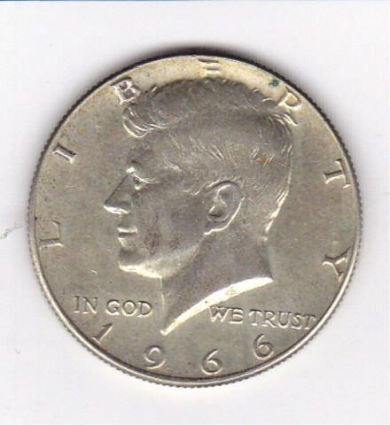 17: 1966 40% Silver Kennedy Half Dollar