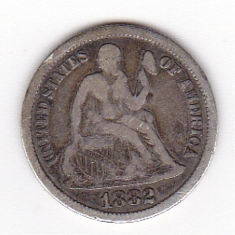 18A: 1882 Silver Liberty Seated Dime