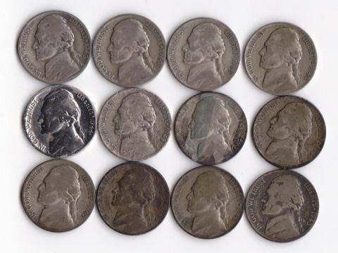 21: 12 - Wartime Silver Jefferson Nickels
