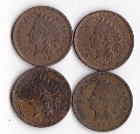 26: 4 - Indian Head Pennies