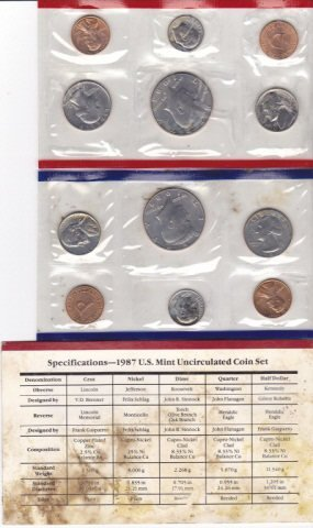 28A: 1987 US Mint Uncirculated Coin Set