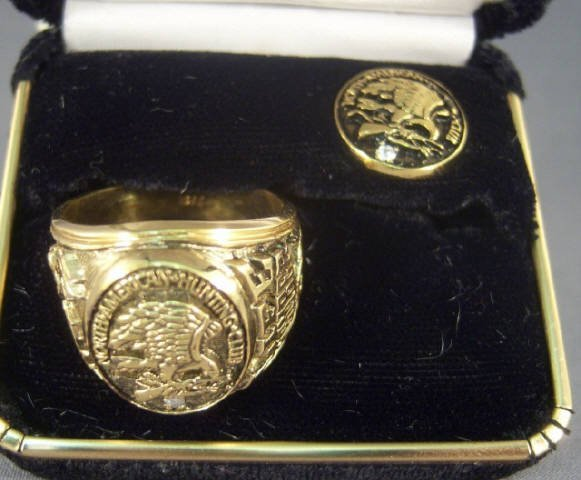 224: North American Hunting Club Ring and Pin w/ Diamon