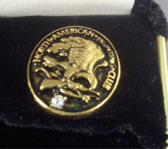 224: North American Hunting Club Ring and Pin w/ Diamon - 3