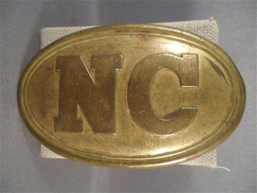 2: Civil War Era North Carolina EM Belt Buckle