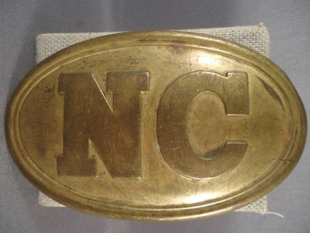 2: Civil War Era North Carolina EM Belt Buckle - 2