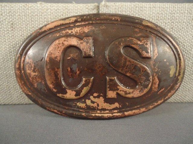 3: Confederate States Civil War Era EM Belt Buckle