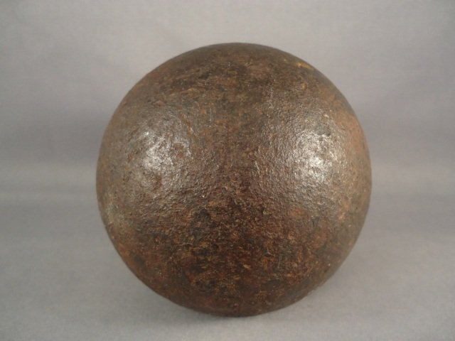 4: Antique Civil War 6lb Cannonball