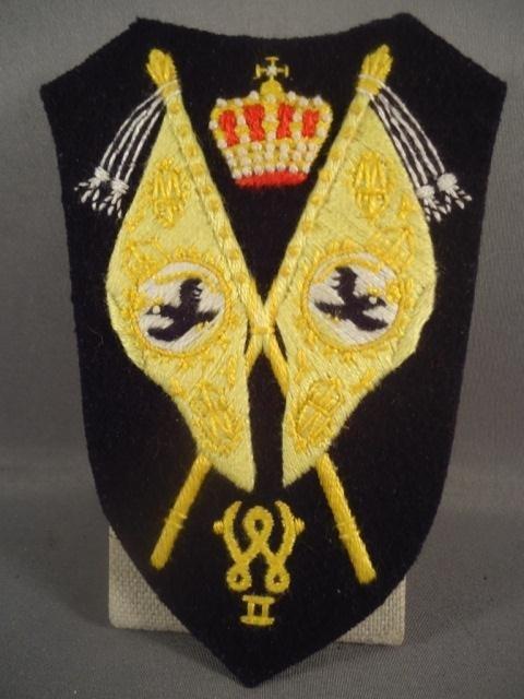 8: German WWI Cavalry Regimental Stadarte Flag Bearer