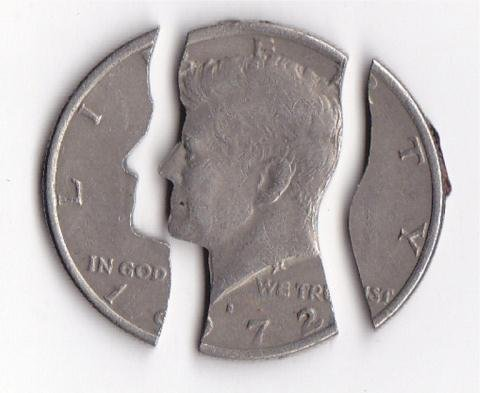 197: 1972-D Kennedy Half Dollar Puzzle Coin