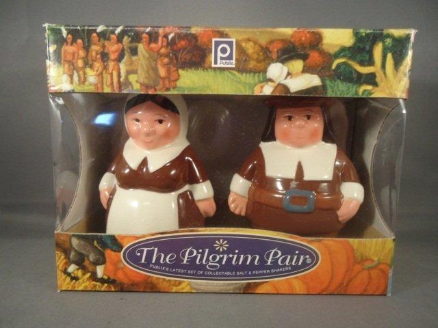 253: Retired Publix Pilgrim Salt and Pepper Shakers