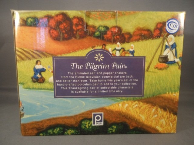 253: Retired Publix Pilgrim Salt and Pepper Shakers - 2