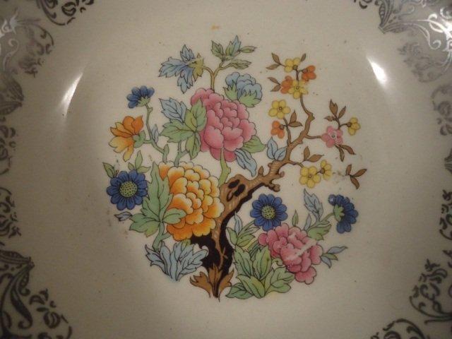 450: Vintage Hammered Alum Bowl With Porcelain Bowl - 2