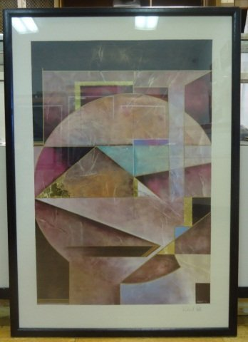 RICHARD HALL SIGNED MODERN PAINTING ABSTRACT