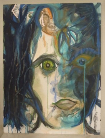"Crying Woman"" Oil on Canvas Unframed"""