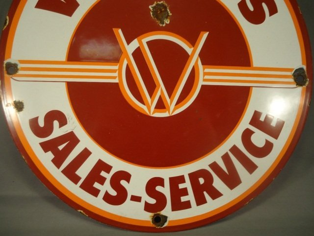 Antique Willys Jeep Porcelain Advertising Sign - 3