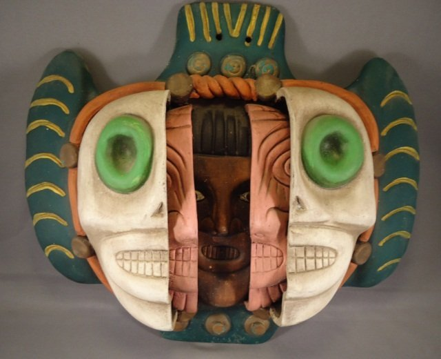 Aztec Faces Wall Hanging