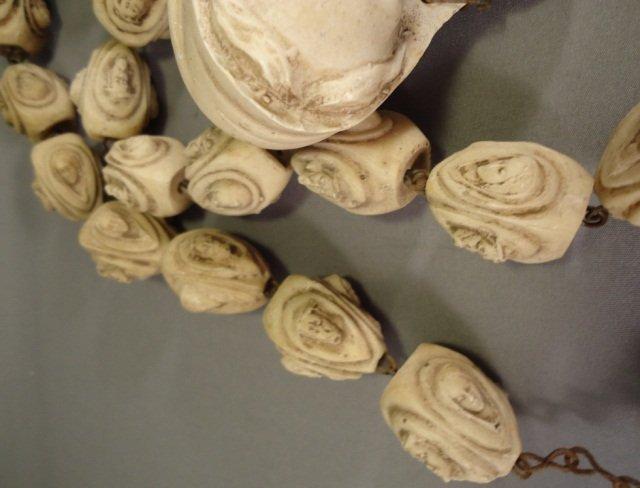 Vintage Hand Carved Bone Rosary - 5