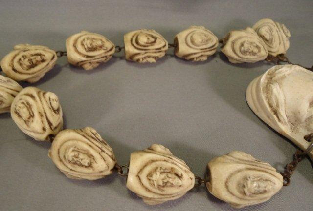Vintage Hand Carved Bone Rosary - 7